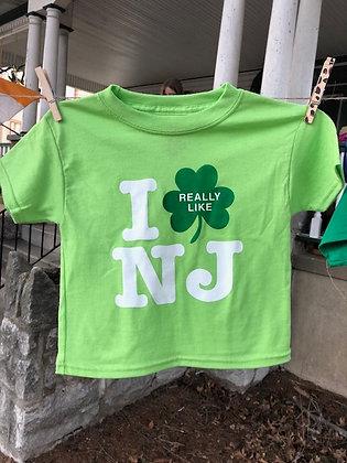 I Really Like NJ Irish Green Youth Tee