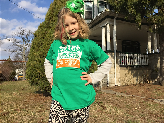 Being Weird is Cool St. Patty's Day Youth Tee