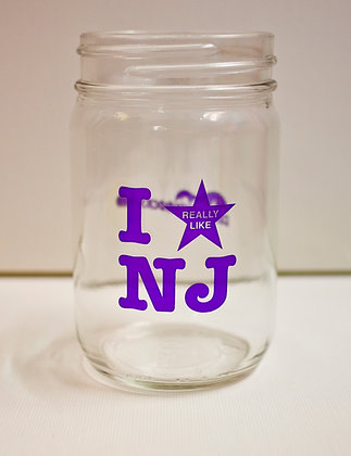 I Really Like NJ Purple Canning Jar