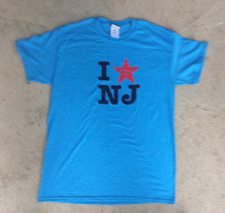 I Really Like NJ Men's Adult Blue Tee