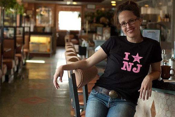 "Black and Pink ""I Really Like NJ"" Women's Tee"