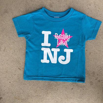 I Really Like NJ Youth Girls Tee Shirt