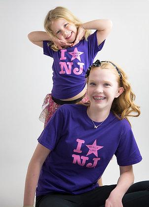 Kids Purple I Really Like NJ Tee