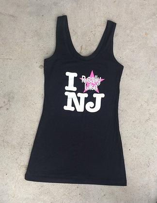 I Really Like NJ Ladies Black Tank Top
