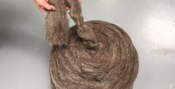 Dämmzopf aus Schafwolle, Rolle mit 5kg