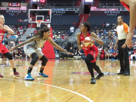 Washington Mystics vs Minnesota Lynx through photo's