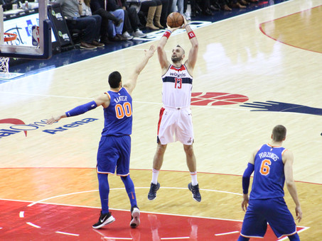 Gortat, Beal, and Wall combine for 73 points in win over Knicks