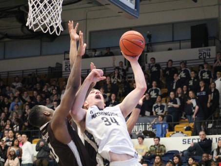 Colonials Rebound In Win Over Bonnies