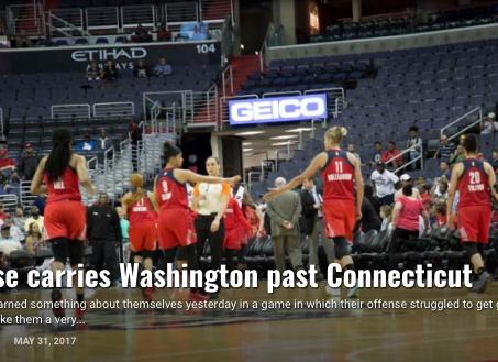 Defense carries Washington past Connecticut