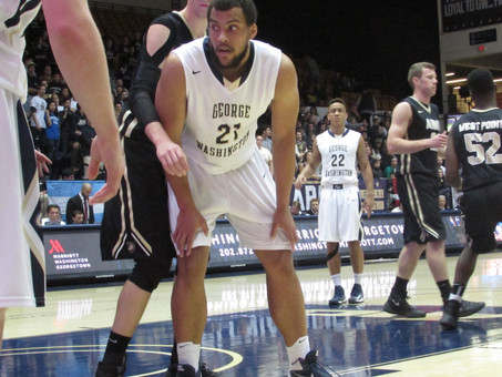 Larsens 21 Points Leads GW  Men's To 92-81 Win Over Army