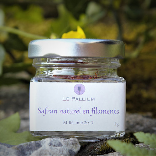 Safran naturel en filaments - 1g