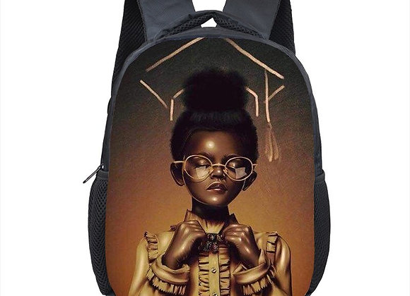 Baby Girl Melanin Princess With Crown Back Pack For Kids
