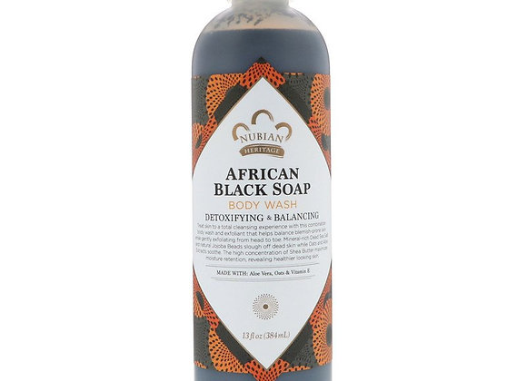 Nubian Heritage African Black Soap Body Wash (13 fl oz)