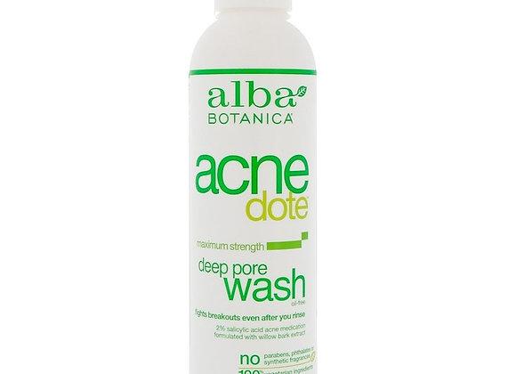 Alba Botanica Acne Dote, Deep Pore Wash (6 fl oz)