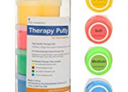 Flint Rehab Premium Quality Therapy Putty (4 Pack, 3-oz Each)
