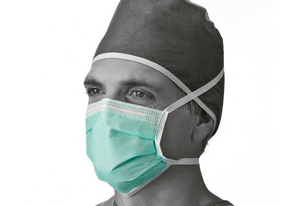 Medline Anti-Fog Surgical Face Mask Tie On Color Green (Case of 300)