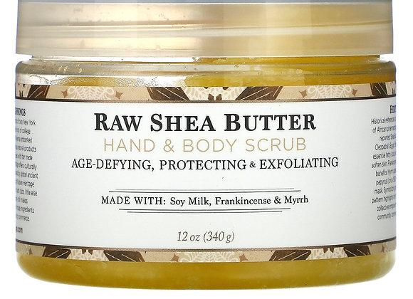 Nubian Heritage Raw Shea Butter Hand & Body Scrub (12 oz)
