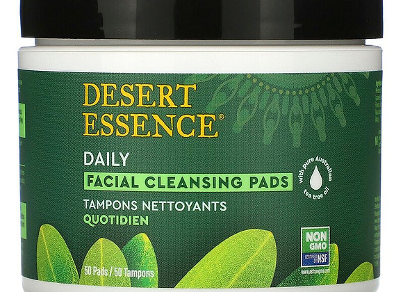 Desert Essence, Daily Facial Cleansing Pads (Jar of 50)