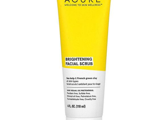 Acure, Brightening Facial Scrub (4 fl oz)