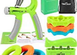 LDGFLY Hand Grip Strengthener Kit Occupational Therapy with Finger Exercisers