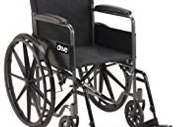 Black Drive Medical Wheelchair (leg rest included)