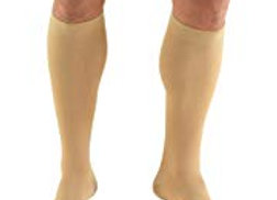Truform 20-30 mmHg Compression Stockings For Men and Women- Open Toe Color Beige