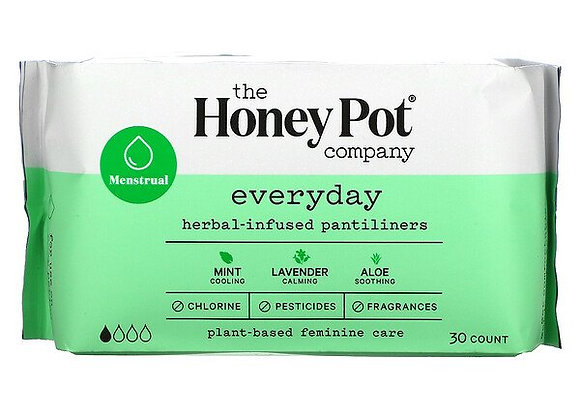 The Honey Pot Company Everyday Herbal-Infused Pantiliners (30 Count)