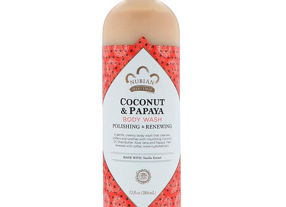 Nubian Heritage Coconut & Papaya Body Wash (13 fl oz)