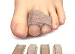 ZenToes Toe Pain Or Fractured Toe -Buddy Toe Support Wrap-Toe (4 Pack) Splint