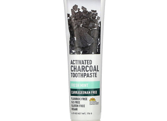 Desert Essence Activated Charcoal Toothpaste-  Fresh Mint Flavor
