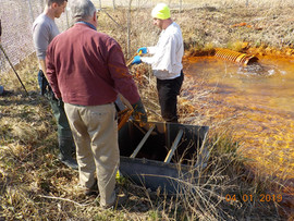 Rob, Austin, and Ted restore flow at Brinkerton.