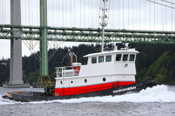 Tugboat under the Narrows Bridge