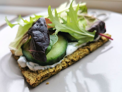 Spinach Falafel toasts