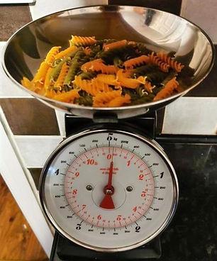 weigh pasta