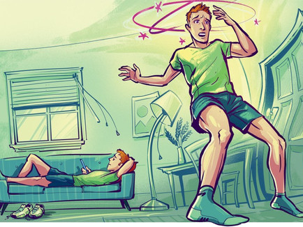 기립성 저혈압 증상을 유발하도록 과도하게 처방받은 백의 고혈압이 중복된 본태성? 고혈압 사례  --> 결과 변동; 쿠싱 증후군 cushing syndrome?