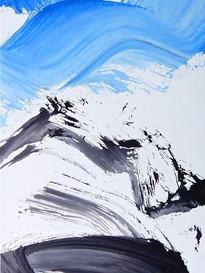 Bruno Suter_2010, acrylique sur toile, 170 x 110 cm