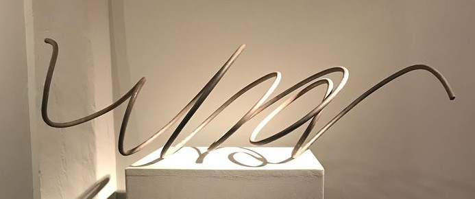Bruno Suter, sculpture en fer, 30 x 42 x 100 cm