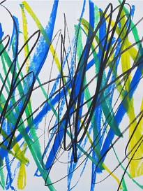 Bruno Suter_2011, acrylique sur toile, 150 x 150 cm