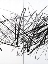 Bruno Suter_2011, acrylique sur toile (diptyque), 150 x 300 cm