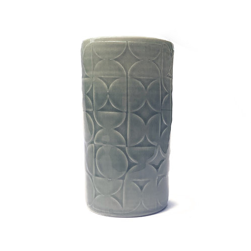 Charcoal grey half circle cup
