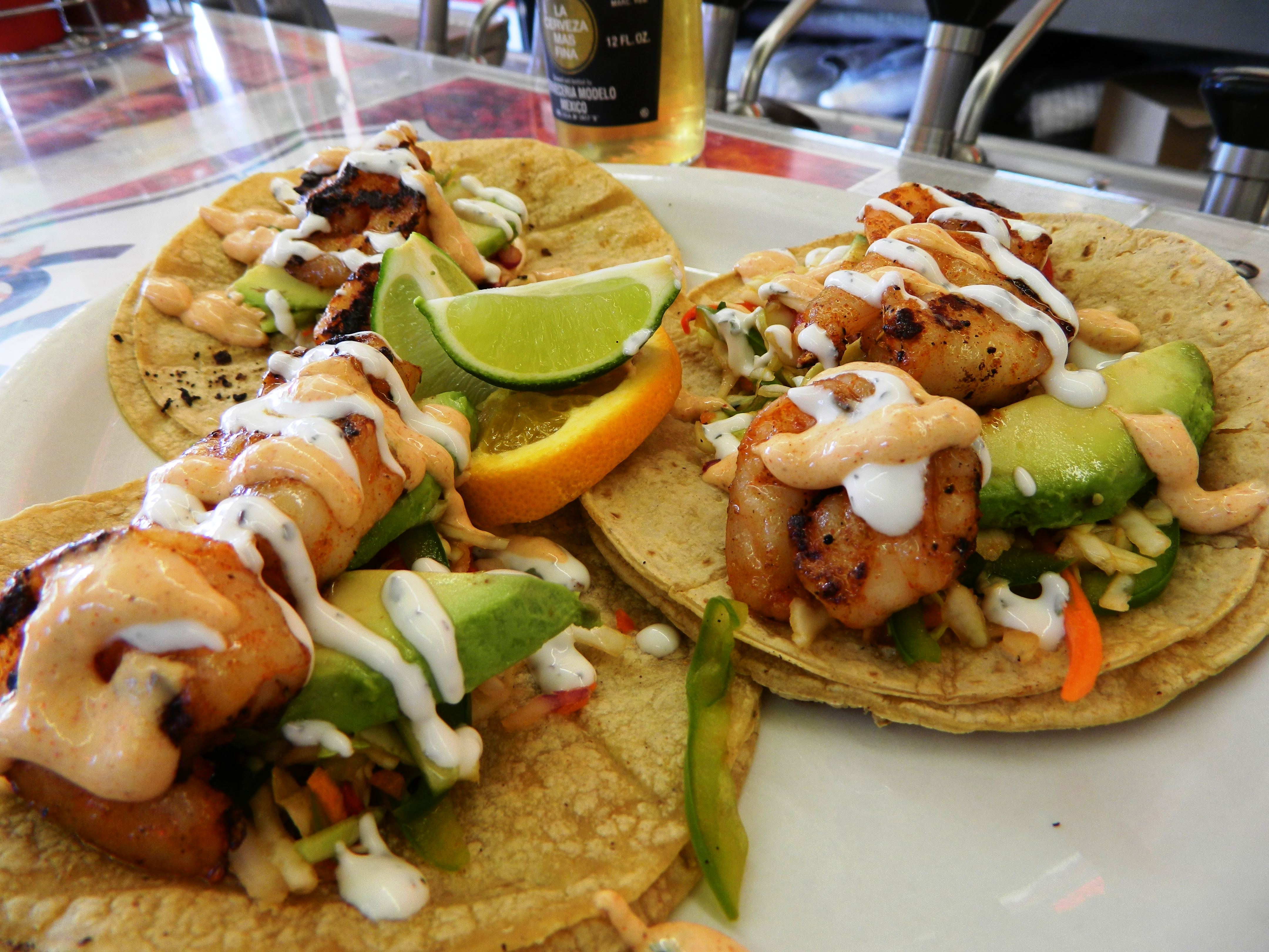 shrimp tacos may