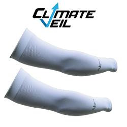 CLIMATE VEIL - Cooling Arm Sleeves - White