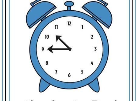 New Service Time Starting Sunday, 10/25