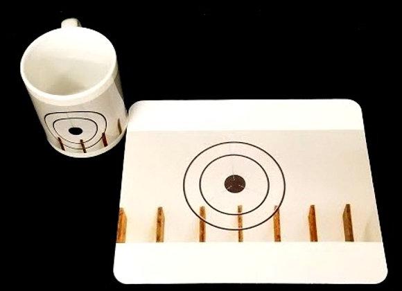 Coffee mug and mouse pad