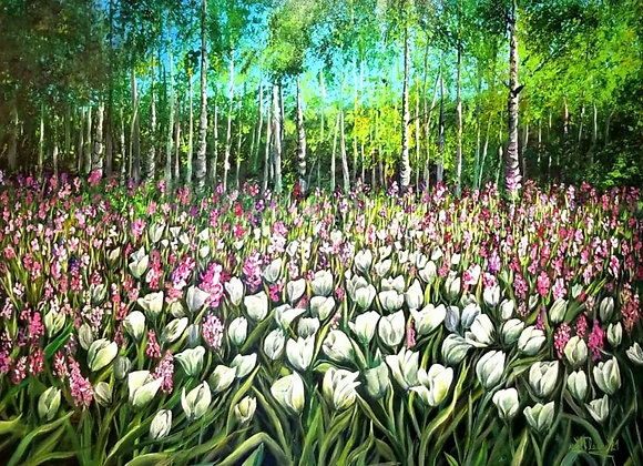 Tulips and Forest