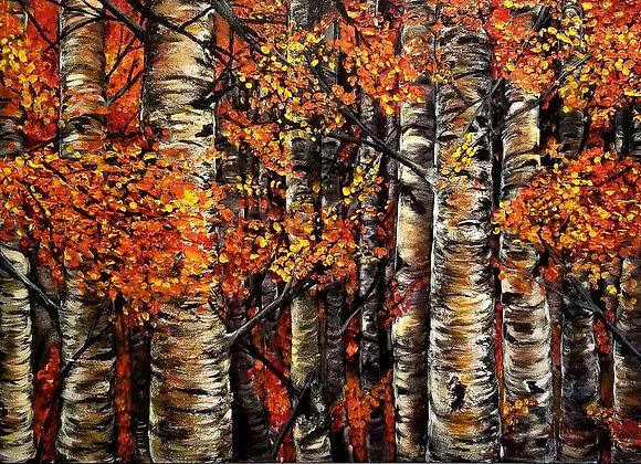 Orange Birches