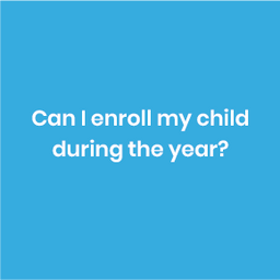 Your child can join the program at any time during the year, a pro-rata fee calculated & invoiced accordingly