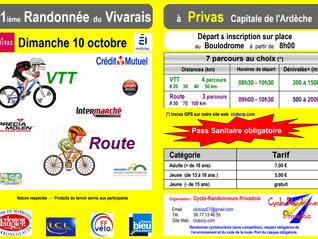 Randonnée du Vivarais 10 octobre 2021