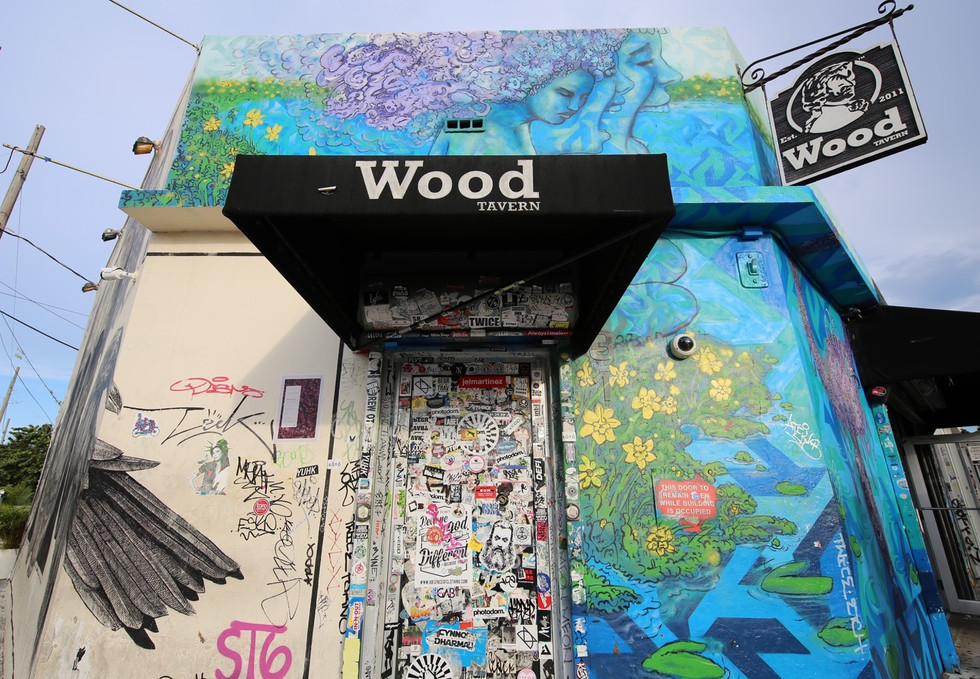 Wood Tavern In Wynwood Neighborhood