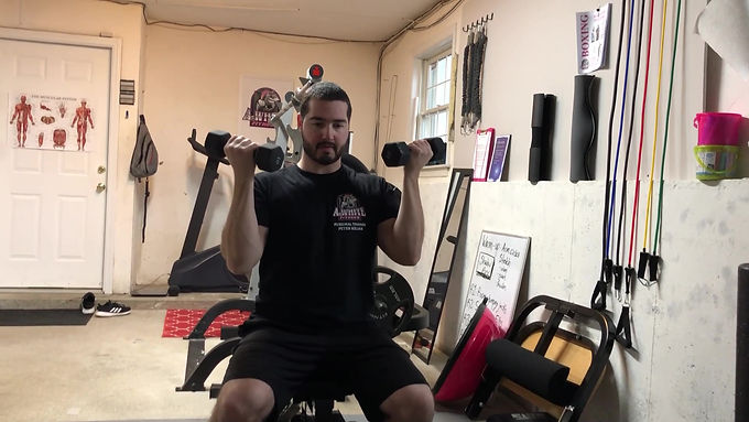 Seated Curl and Press